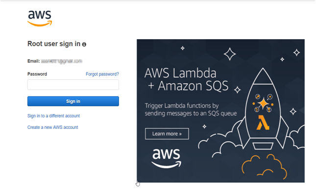 Login to Amazon Console