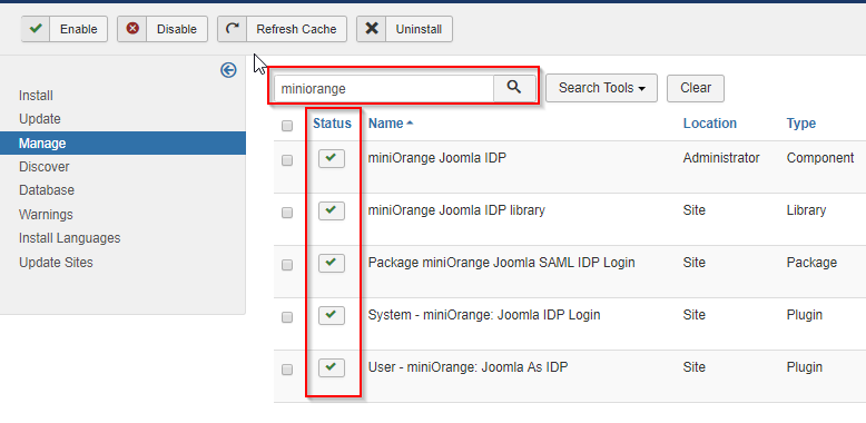 Facebook SP and Joomla SAML IDP miniorange plugin