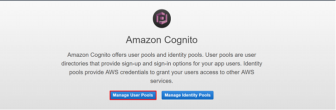 AWS cognito manage user pools