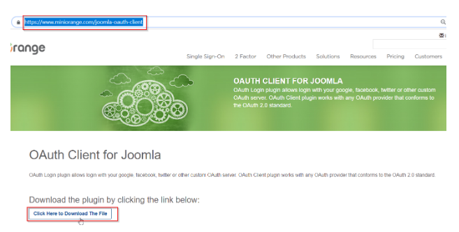 Download the zip for Joomla