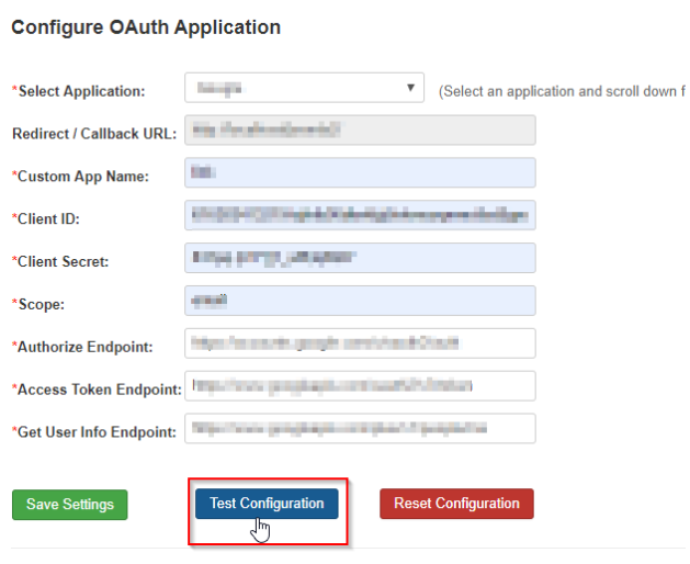 FitBit_sso_Confuger Oauth Application