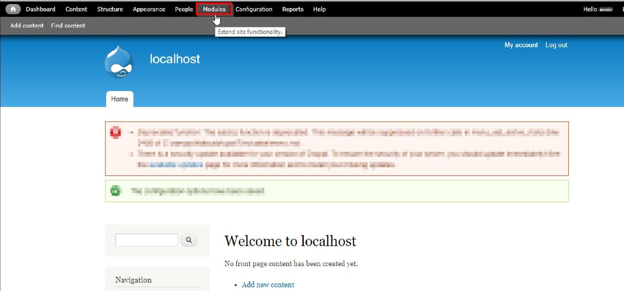 log in drupal instance