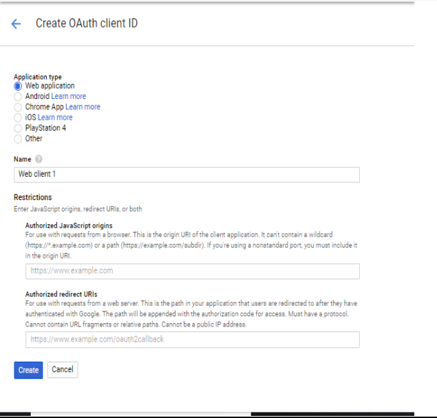 oauth provider Redirect/Callback URI