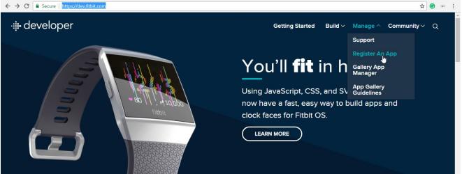 FitBit_sso_Register an APP for fitbit
