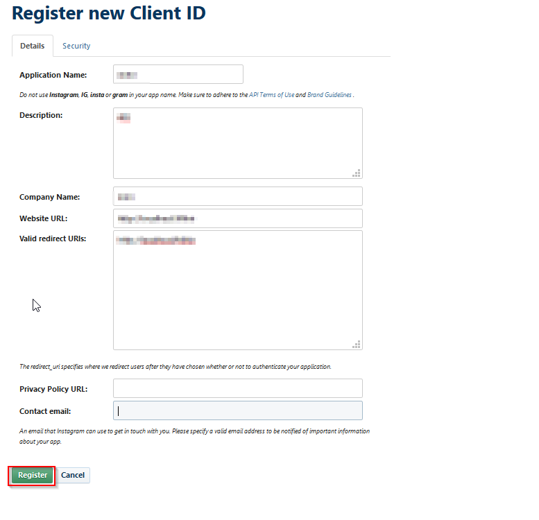OpenId Connect_sso_Register button to save your configurations