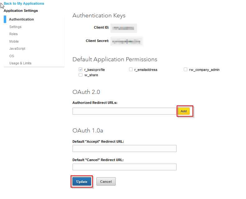 Linkedin OpenId Connect_sso_button to save your configurations.