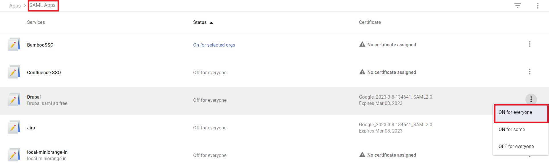 Google-apps idp