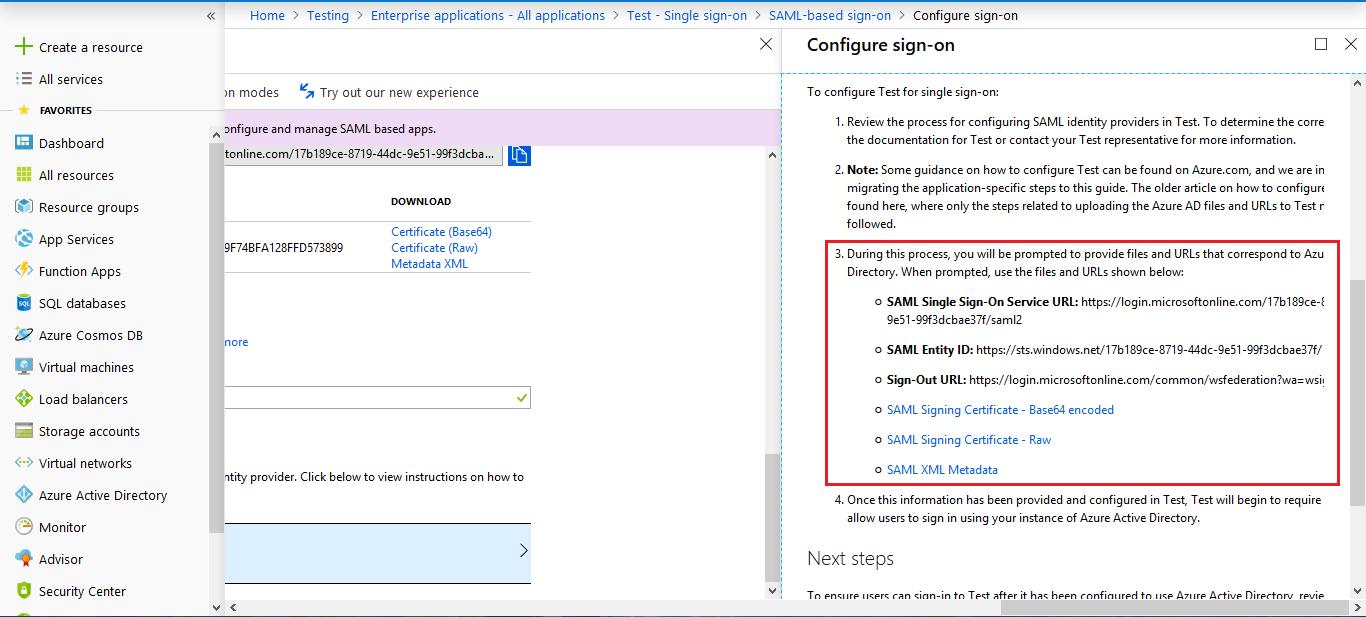Drupal SAML Single Sing On (SSO) configure module using application's metadata