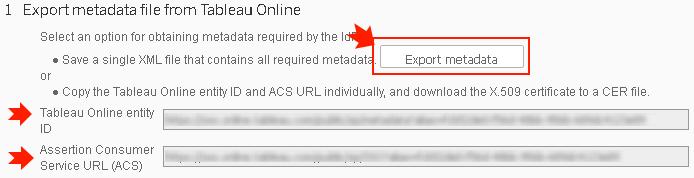 Tableau metadata