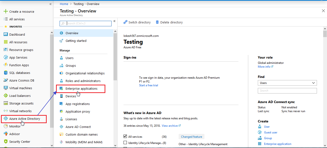 Enterprise Application - Azure AD SSO