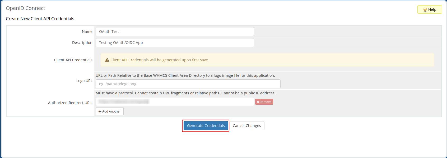 Configure New Client