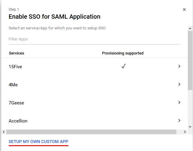 Enable SSO - Google G Suite