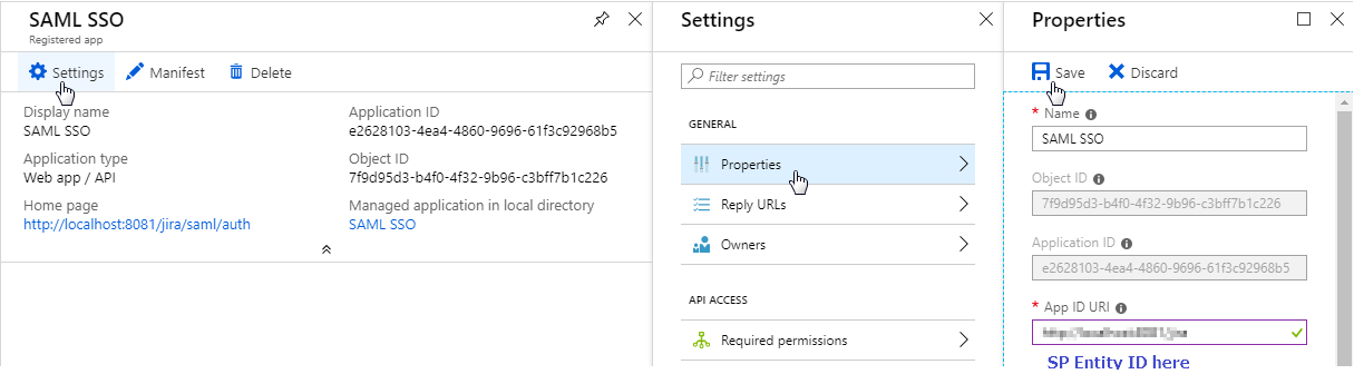 APP ID - Azure AD SSO