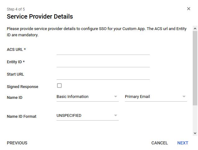 Service Provider - Google G Suite