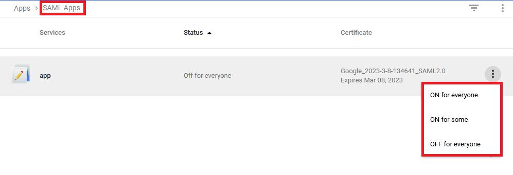 Turn On - Google G Suite