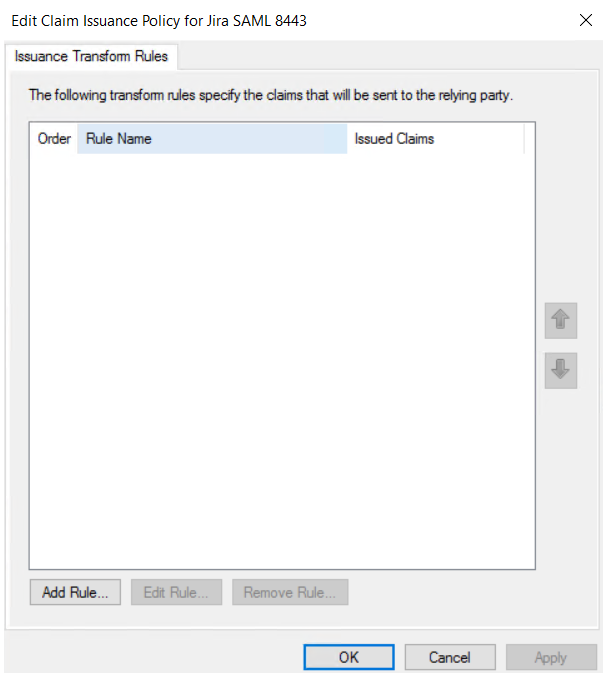 asp.net saml sso ADFS : add rule