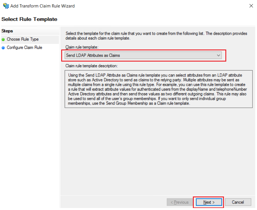 SAML Single Sign-On (SSO) using ADFS Identity Provider(IdP),for SAML 2.0 Configure_LDAP Attributes