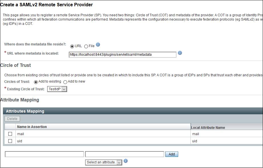 Service Provider - OpenAM SSO