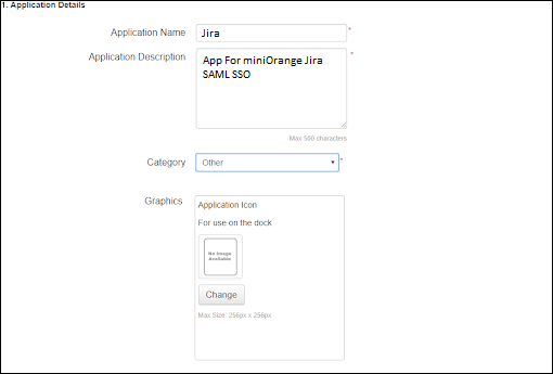 Application Details - Ping One SSO