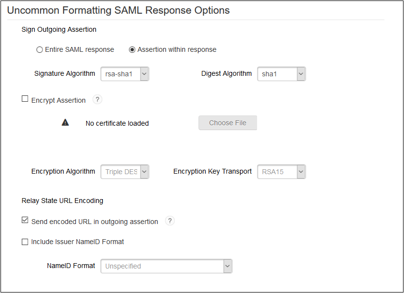 Formatting SAML Response - RSA SecurID SSO