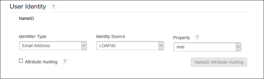 User Identity - RSA SecurID SSO
