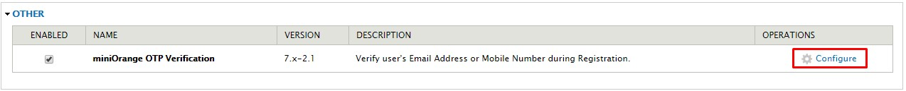 OTP_sso_Option to Configure the Module