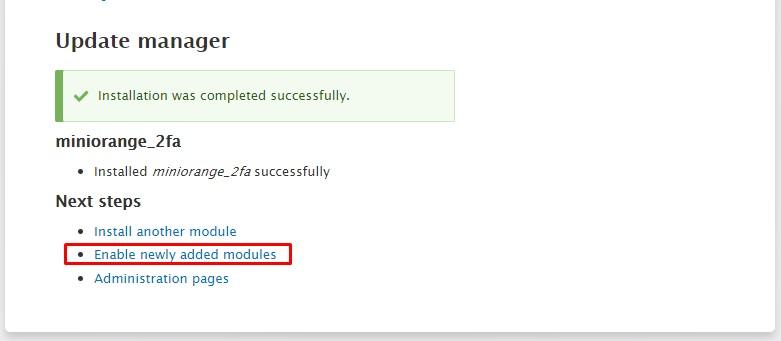 Drupal install module