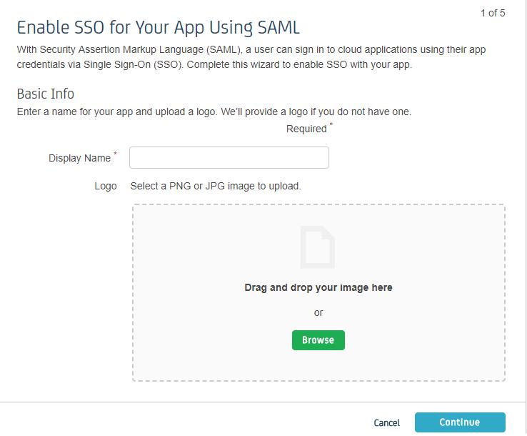 Configure SSO- Step 1 - CA Identity