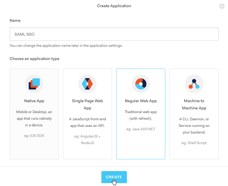 Select Application - Auth0 SSO