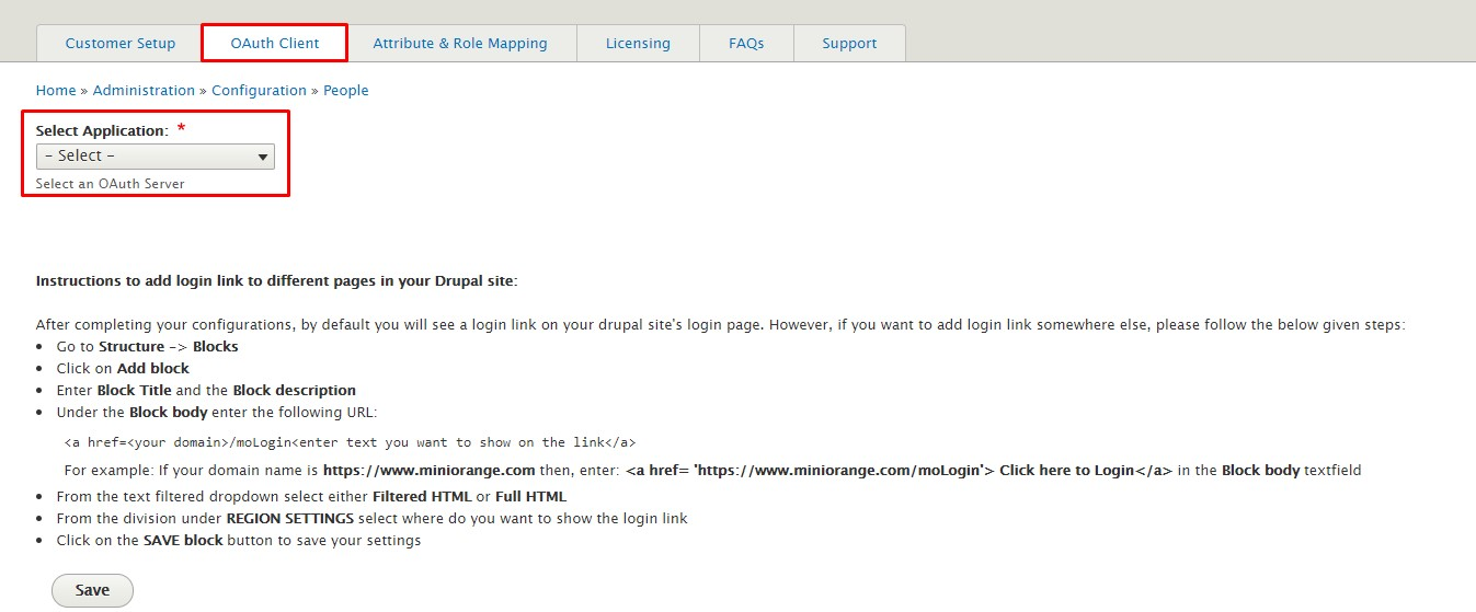FitBit_sso_Drupal click on save