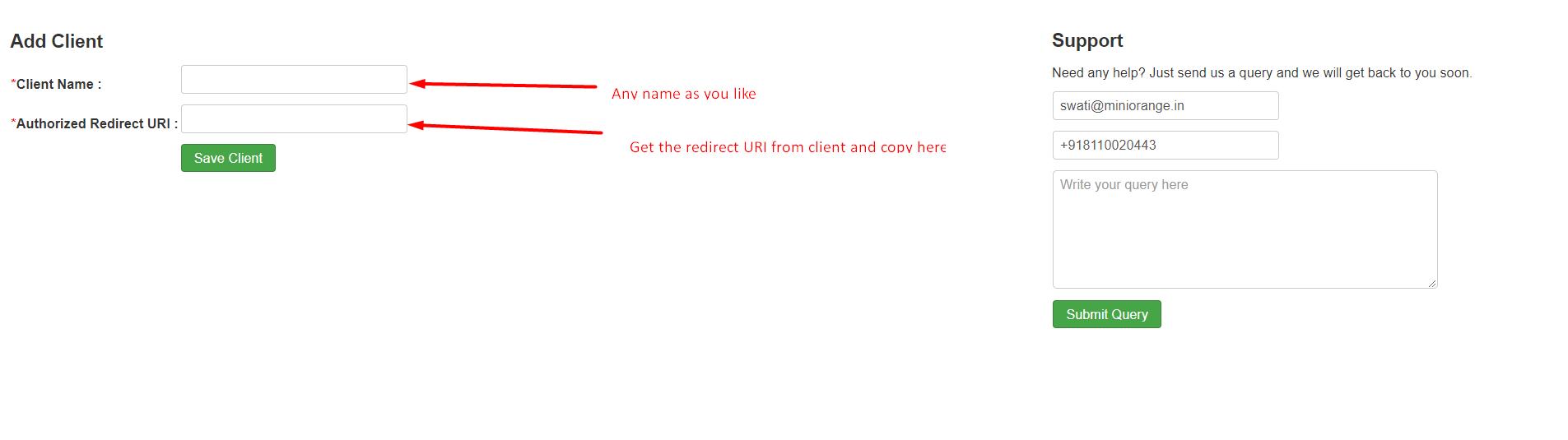 Joomla oauth server authorized redirect URI