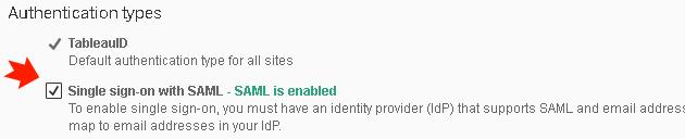 enable saml authentication