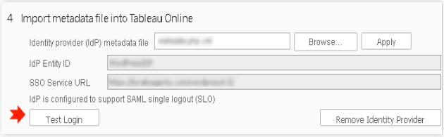 click on test login