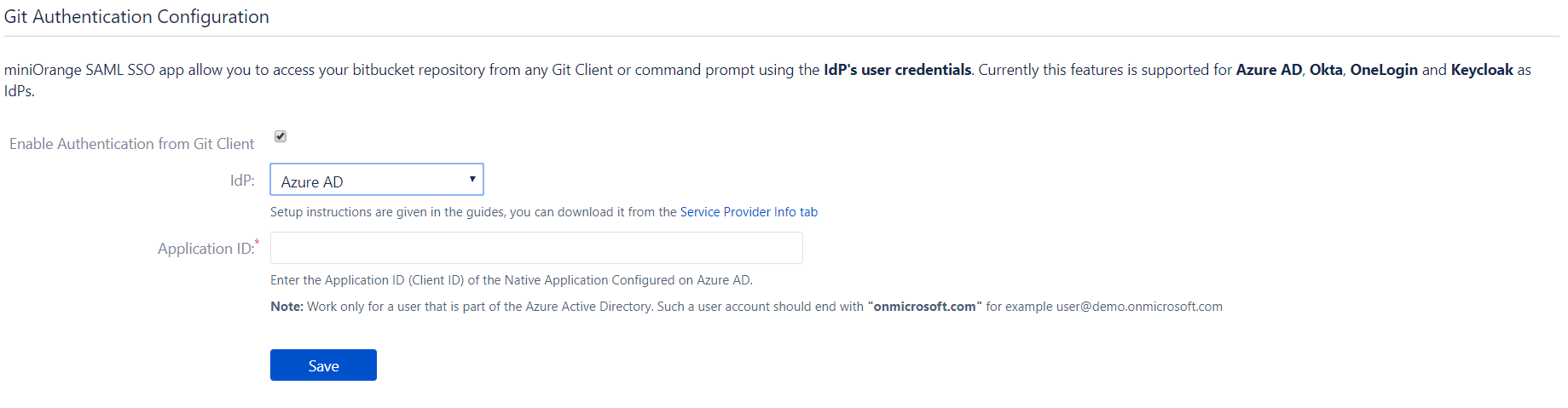 Git Authentication using Azure AD as Identity Provider, Azure AD