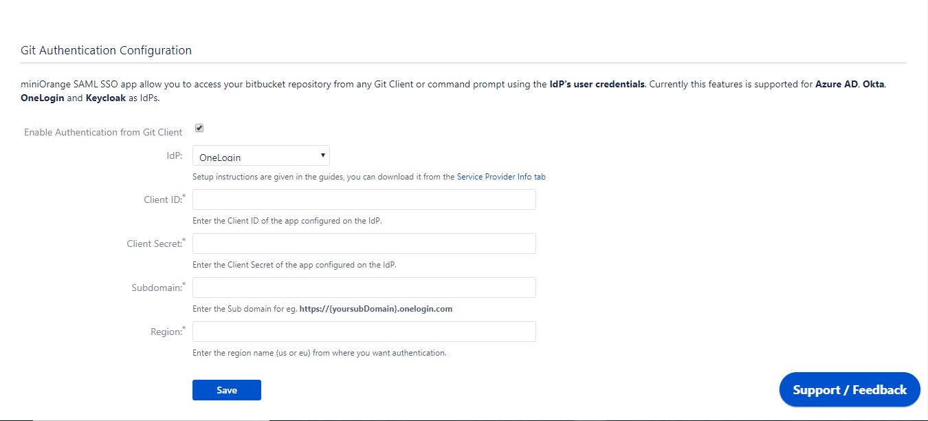 SGit Authentication using Onelogin as Identity Provider,Login