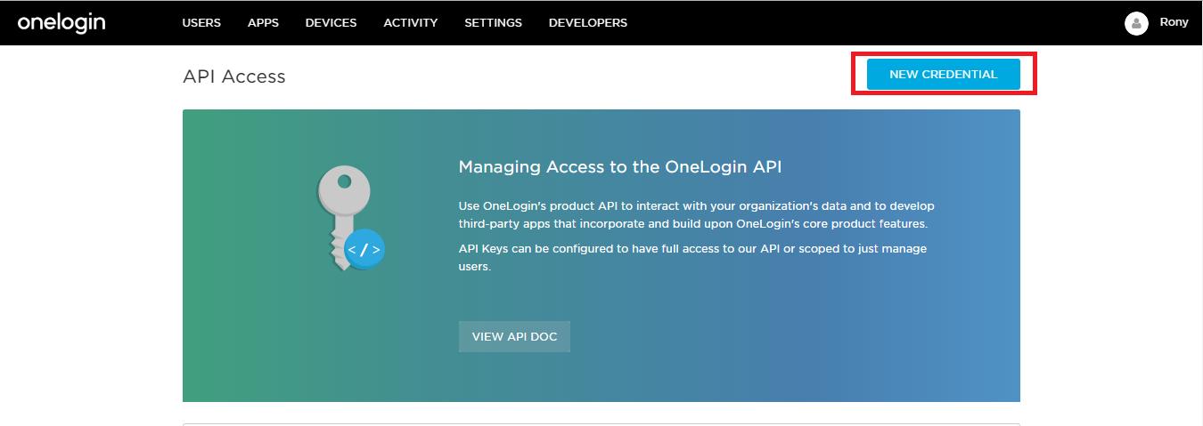 Git Authentication using Onelogin as Identity Provider,Generate API Keys