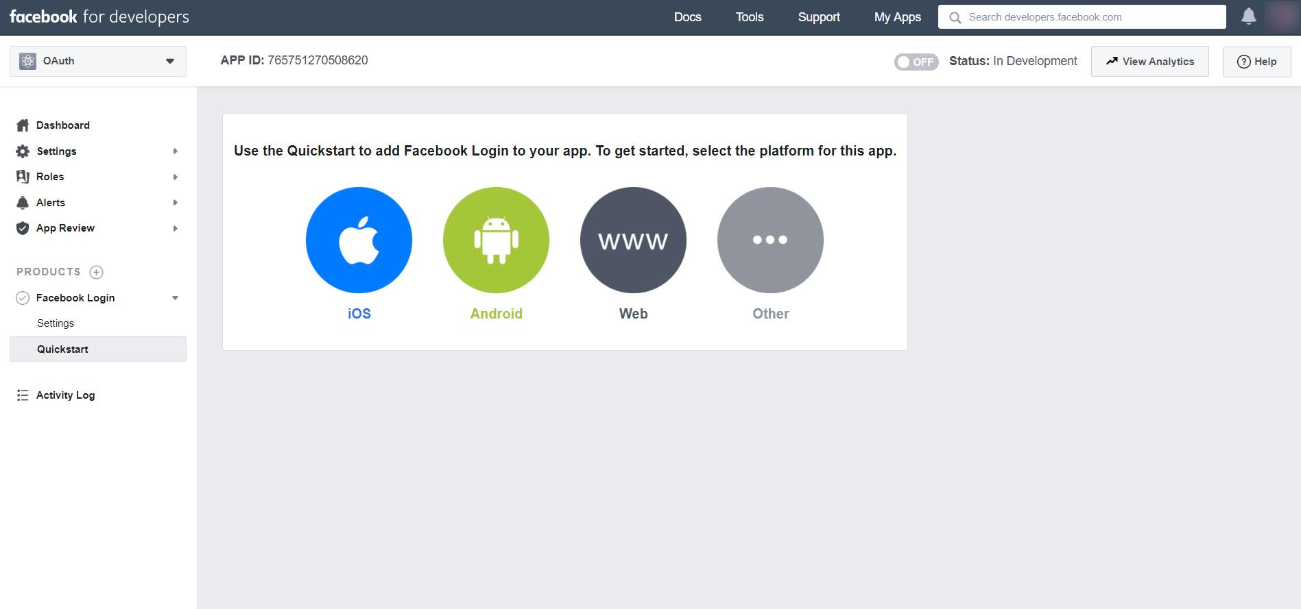 OAuth/OpenID/OIDC Single Sign On (SSO), Facebook SSO Login Web