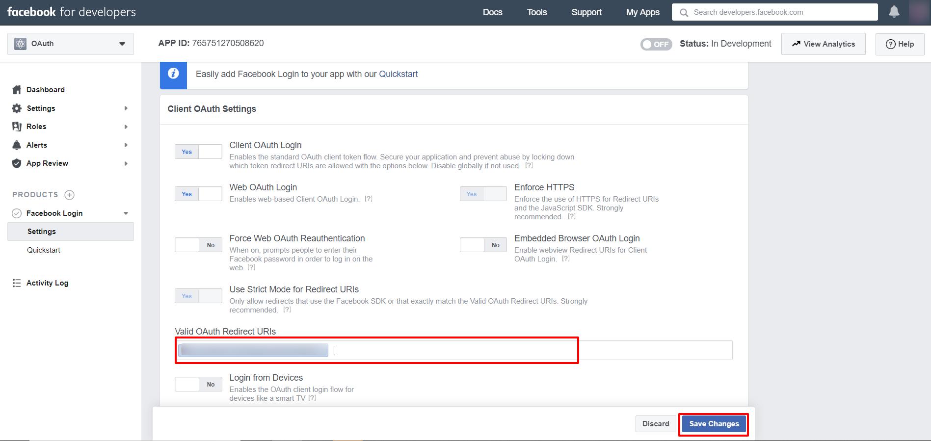 OAuth/OpenID/OIDC Single Sign On (SSO), Facebook SSO Login Callback URL