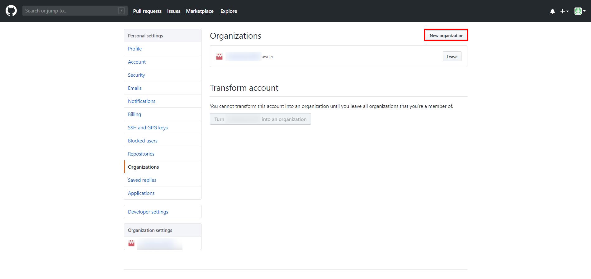 OAuth/OpenID/OIDC Single Sign On (SSO), GitHub Enterprise SSO Login create new organization.png
