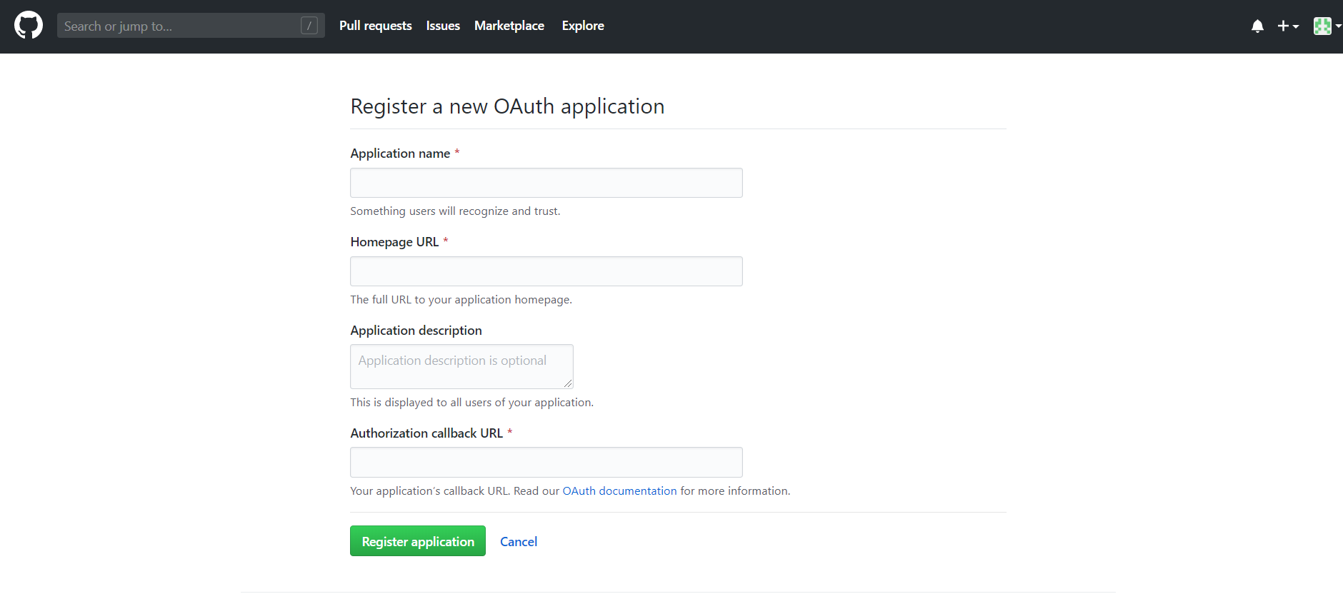 OAuth/OpenID/OIDC Single Sign On (SSO), GitHub SSO Login Enter app credentials