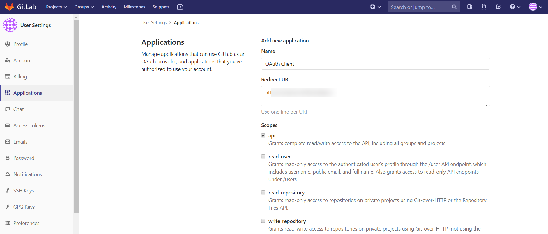 OAuth/OpenID/OIDC Single Sign On (SSO), GitLab SSO Login Redirect URI