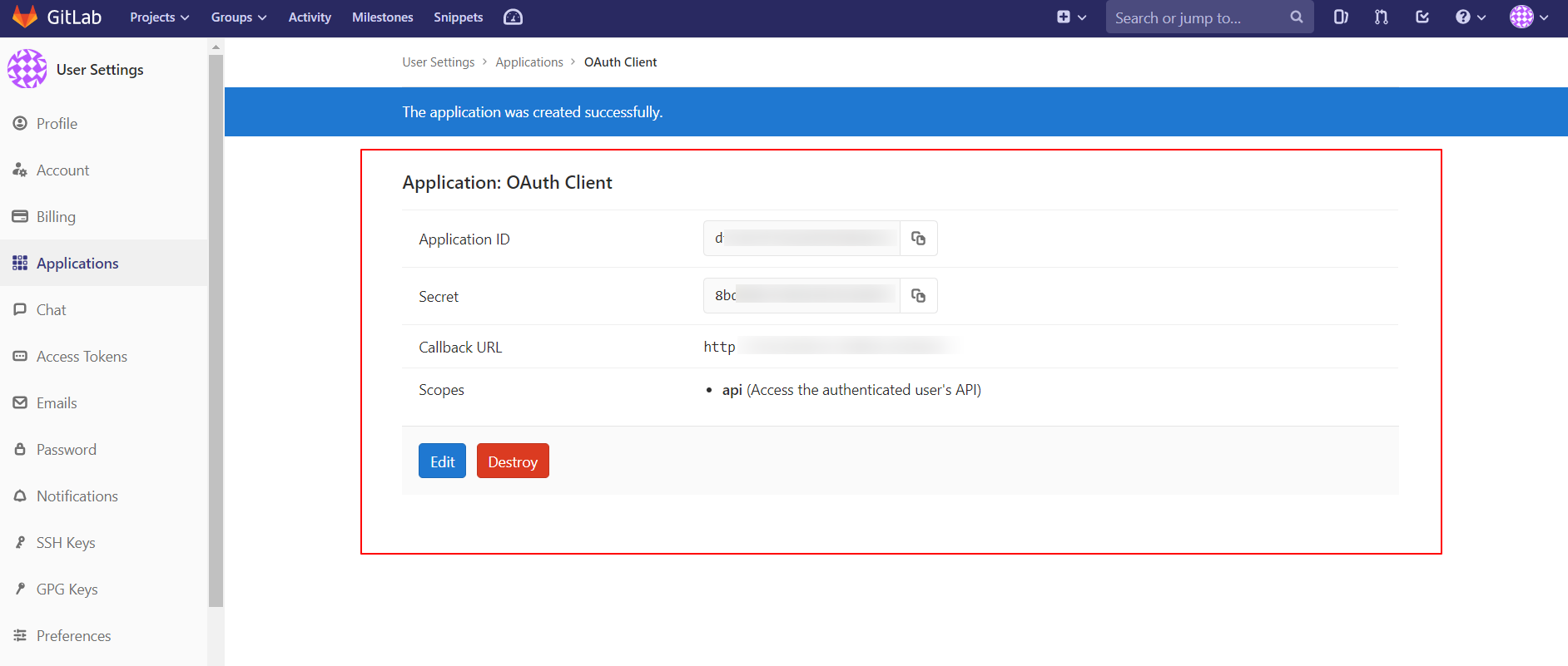 OAuth/OpenID/OIDC Single Sign On (SSO), GitLab SSO Login Get Client ID