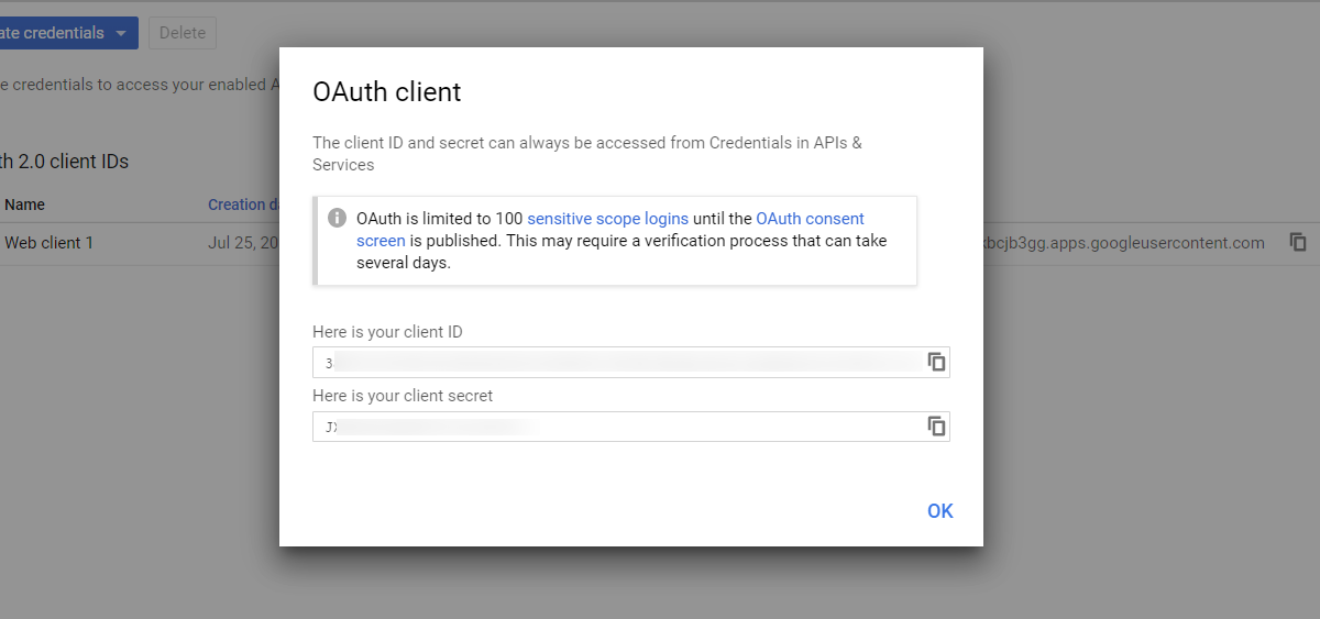 OAuth/OpenID/OIDC Single Sign On (SSO), Google Apps SSO Login Get Client ID