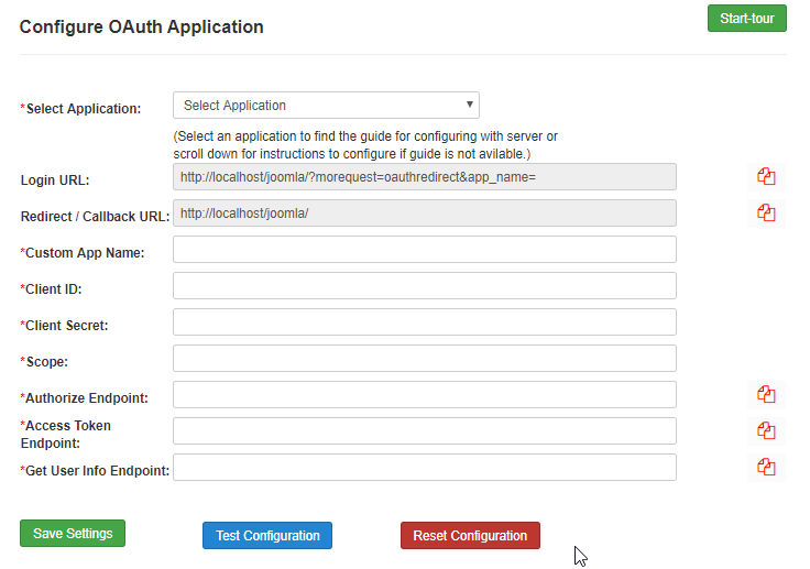 WildAppricot OAuth/OpenId configuration page