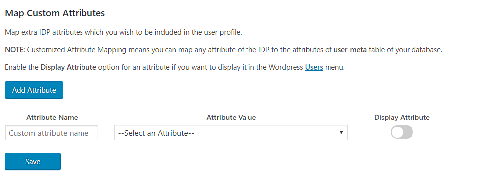 wordpress saml custom attribute mapping