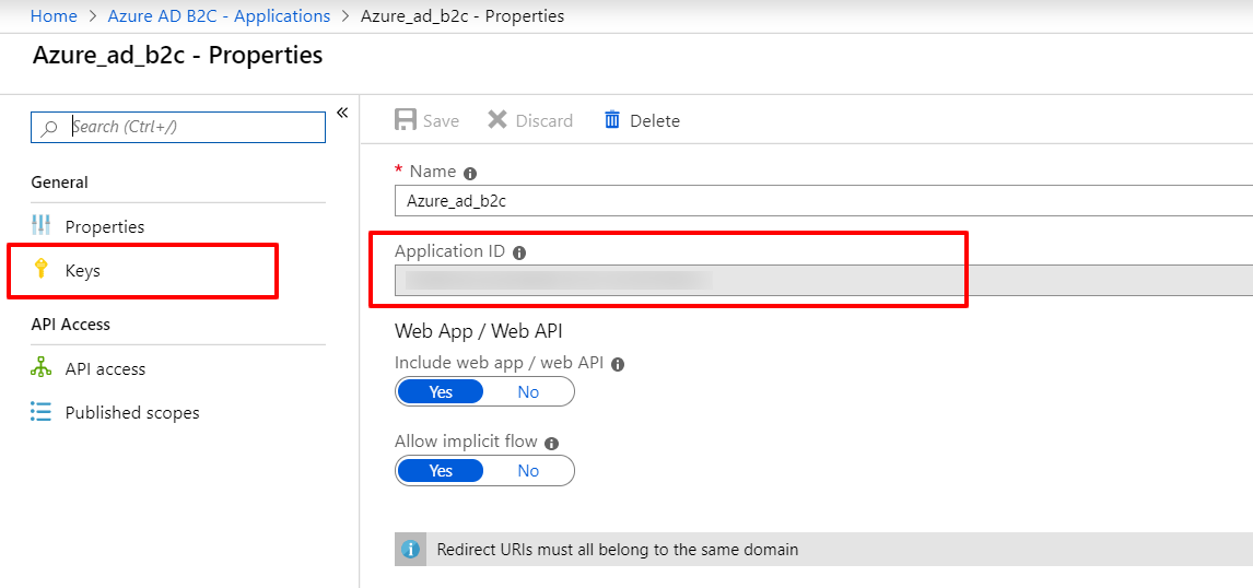 OAuth/OpenID/OIDC Single Sign On (SSO), AzureB2C SSO Login Application ID