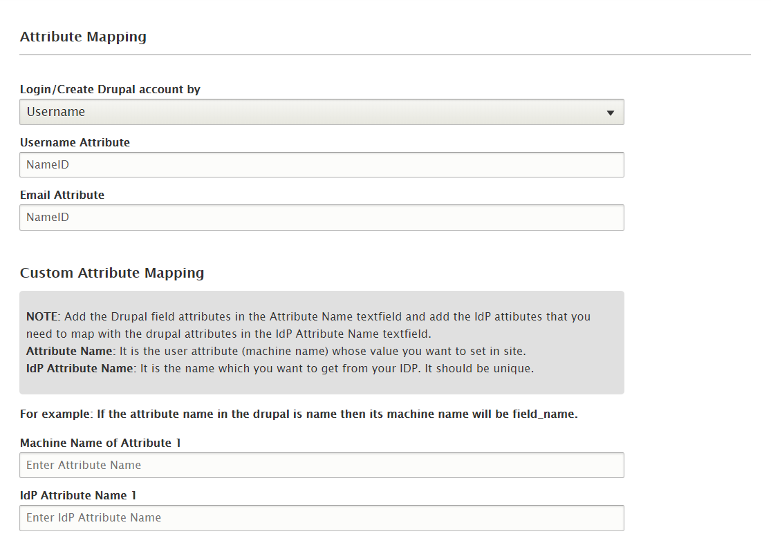 Drupal SAML Single Sing On (SSO) attribute mapping