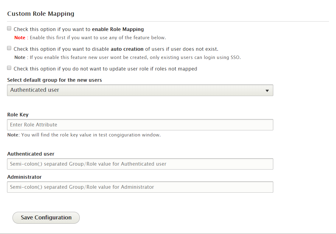 Drupal SAML Single Sing On (SSO) role mapping