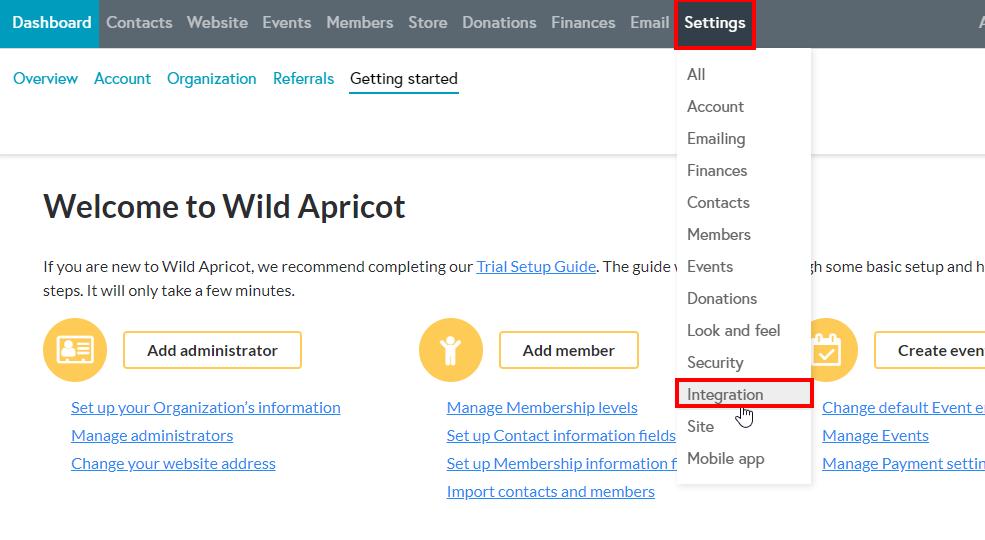 WildAppricot create app