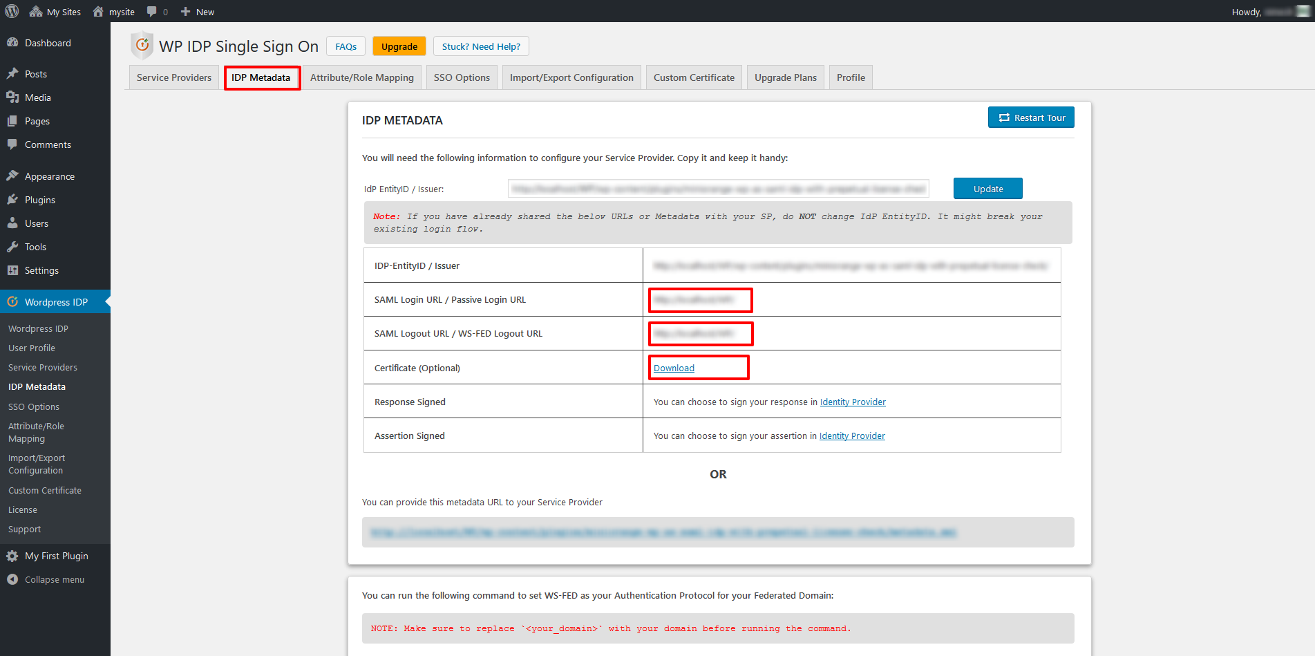 idp metadata zendesk as sp